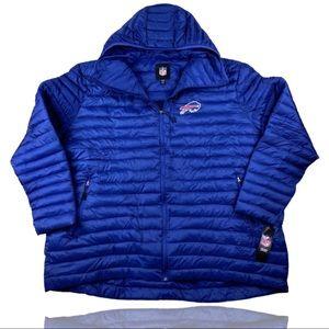 Buffalo Bills Full Zip Hooded Puffer Jacket 5XL
